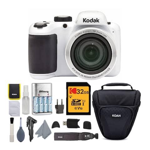 Kodak PIXPRO AZ401 Astro Zoom Digital Camera (White) Bundle