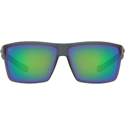 CostaDelMar Men Rincon Sunglasses,MatteSmokeCrystalFrame,CopperGreen63mm