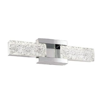 "Modern Forms WS-13619 Sofia 19"" Wide ADA Compliant LED Vanity Light with Crystal Shades"