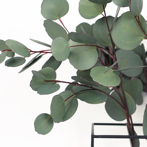 G Home Collection Luxury Artificial Eucalyptus Round Leaf Stem 28 Tall