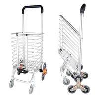 8 Wheel Stair Climber Foldable Shopping Cart 15.7 x 20.5 x 36.2 inches
