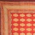 Handmade Kensington Block Print Tablecloth 100% Cotton Rust Brown Rectangular Square Round - Thumbnail 6