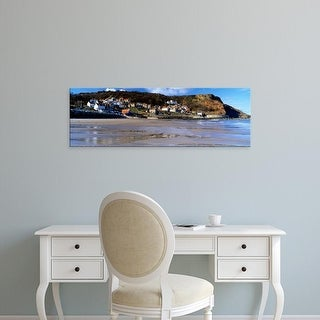 Easy Art Prints Panoramic Image 'Town, Runswick Bay, North Yorkshire, England, United Kingdom' Canvas Art