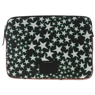 Marc Jacobs Laptop Case Printed Leather Trim