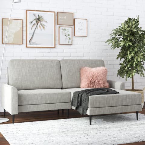 CosmoLiving by Cosmopolitan Francis Upholstered Sectional Sofa with Interchangeable Chaise and Small Space Design
