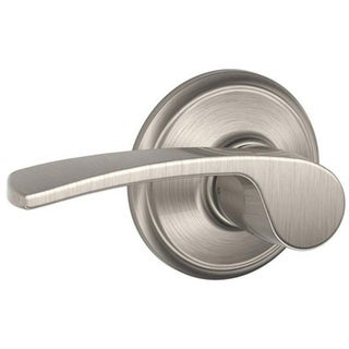 Schlage F10VMER619 Merano Passage Lockset, Satin Nickel