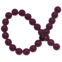 Czech Glass Druk Round Beads 8mm Dark Amethyst (25)