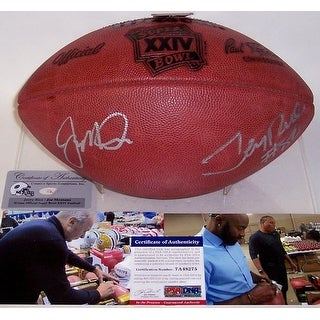 Joe Montana & Jerry Rice Autographed Hand Signed Super Bowl 24 XXIV Official NFL Football - PSA/DNA