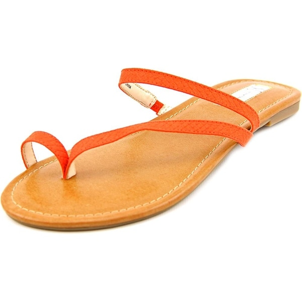 INC International Concepts Mistye 2 Women Canvas Orange Flip Flop Sandal
