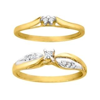 1/8 ct Diamond Bridal Set in 10K Gold