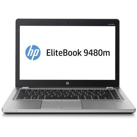 "HP Elitebook Folio 9480M 14.0"" Refurb Laptop - Intel Core i7 4600U 4th Gen 2.1 GHz 8GB 256GB SSD Windows 10 Pro - Webcam"