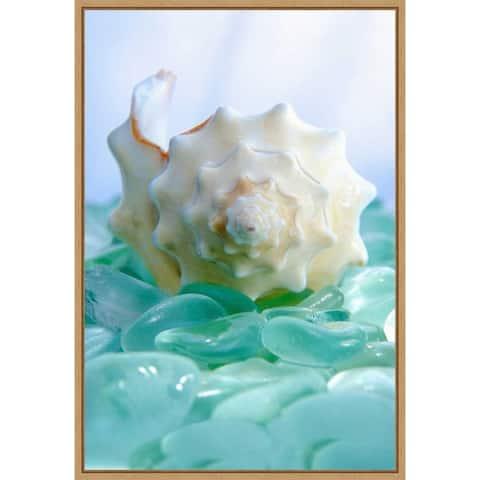 Canvas Art Framed 'Crystal Harbor' by Alan Blaustein 16 x 23-inch