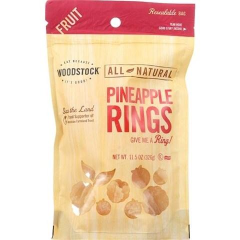 Woodstock Farms - Low Sugar Unsulphured Pineapple Slices ( 8 - 11.5 OZ)