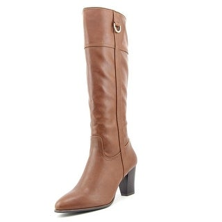 Alfani Carcha Round Toe Leather Knee High Boot