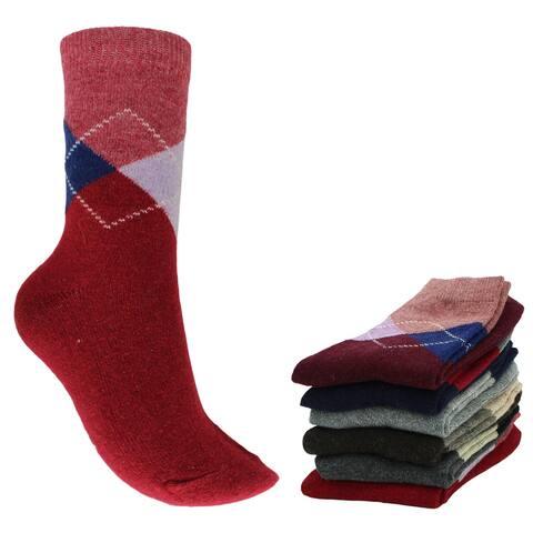 Women Socks Size 6-9 Wool Blend Warm Winter Crew Socks 6 Pairs