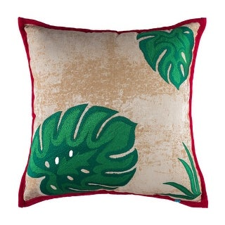 Tropical Embroidered Decorative Handmade Cotton Throw Pillow Cover