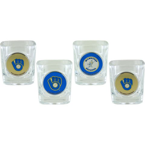 Milwaukee Brewers Collector's Shot Glass Set, 4-Pack