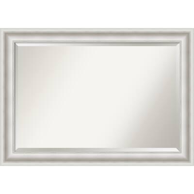 Parlor White Framed Bathroom Vanity Wall Mirror