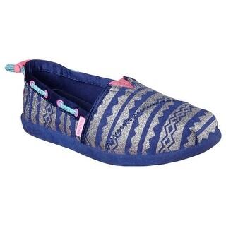 Skechers 85188 NVY Girl's SOLESTICE-AZTEC PRINCESS II Flat