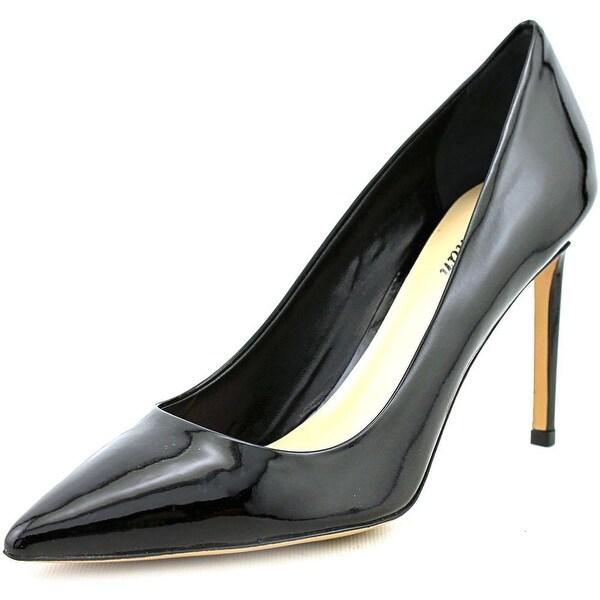 Delman Betti Women Pointed Toe Leather Black Heels