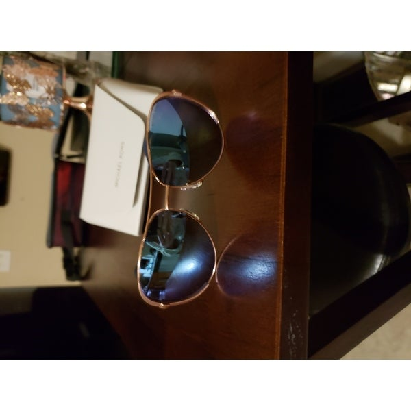 4a4eff0c7 Shop Michael Kors Chelsea Rose Gold Metal Aviator Purple Mirrored Polarized  Lens Sunglasses - Free Shipping Today - Overstock - 12013582