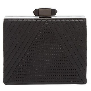 Sondra Roberts Womens Clutch Handbag Faux Leather Quilted - Small