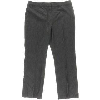 Kasper Womens Petites Kate Classic Fit Stretch Straight Leg Pants