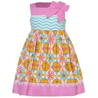 Counting Daisies Baby Girls Yellow Art Deco Mixed Print Easter Dress 3M