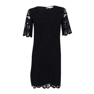 BCBGeneration Women's Lace Shift Dress - Black