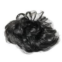 Unique Bargains Short Chignon Bun Wigs for Ladies Party Daily Wear Blk