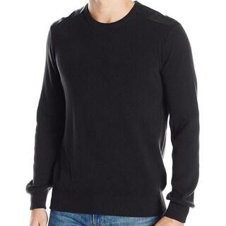 Kenneth Cole Reaction NEW Black Mens Size Medium M Crewneck Sweater
