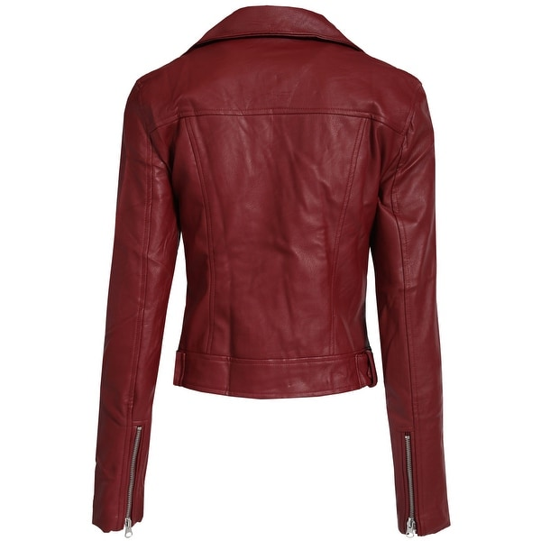 Womens Leather Blazer Classic Real Leather Coat 06