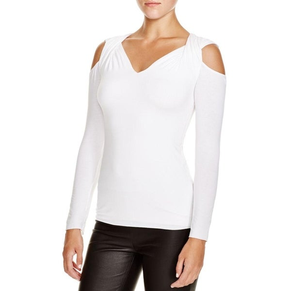 Bailey 44 Womens Pullover Top Cold Shoulder Stretch