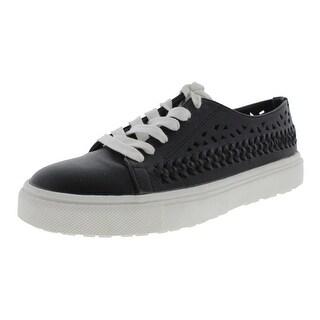 Sam Edelman Womens Raina Faux Leather Woven Fashion Sneakers - 7 medium (b,m)