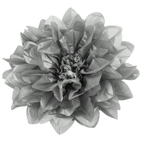 1 Pk, Large Tissue Daisy Flower Wall Backdrop Decor 43Cm - Silver