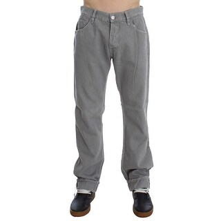 Dolce & Gabbana Dolce & Gabbana Gray Cotton Straight Fit Jeans - w34