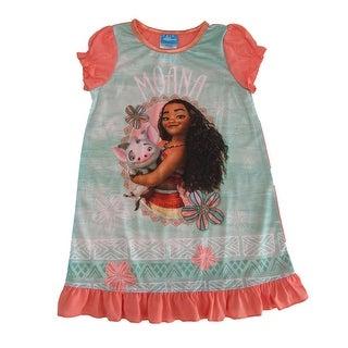 Disney Girls Mint Green Moana Short Sleeve Nightgown