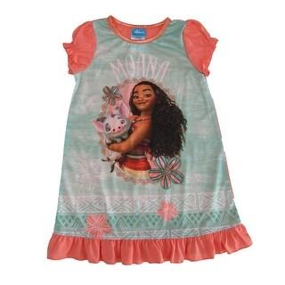 Disney Little Girls Mint Green Moana Short Sleeve Nightgown