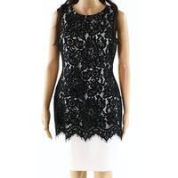 Lauren By Ralph Lauren NEW Black Womens Size 4P Petite Sheath Dress