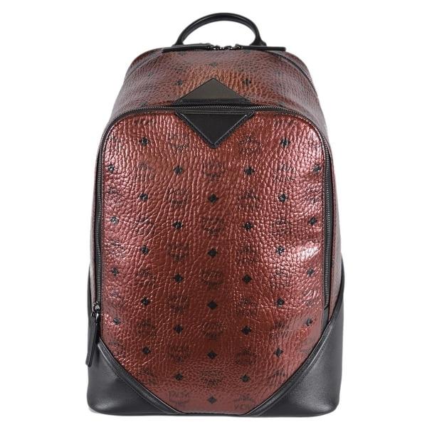 MCM Men  x27 s Metallic Coated Canvas Visetos Medium Scooter Backpack Bag  ... 64667ac717d66