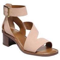 Franco Sarto Women's Lorelia Ankle Strap Sandal Peach Kaa Leather
