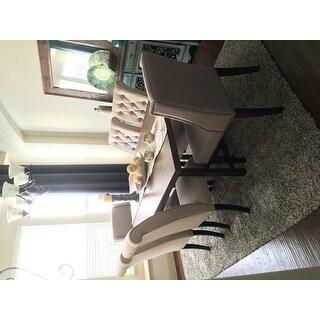 Safavieh En Vogue Dining Noho Beige Linen Dining Chairs (Set of 2)
