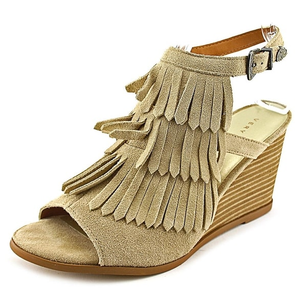 Very Volatile Notion Women Open Toe Suede Wedge Sandal
