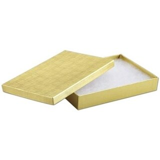 8 x 5.5 x 1.25 in. Linen Jewelry Boxes, Gold