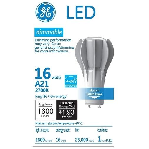 GE Lighting 92498 Dimmable LED Light Bulb, Soft White, 16 Watts