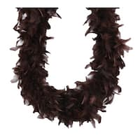 Set of 3 Brown Embellished Fluffy Party Boas - 2 Yards
