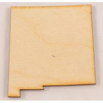 """Package Of 10, Small 5.25"""" X 5.5"""" X 1/8"""" Thick New Mexico State Cutout"""