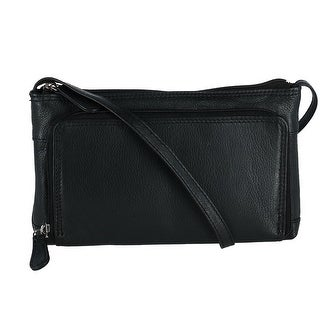 Link to CTM® Women's Leather Organizer Crossbody Handbag Similar Items in Shop By Style