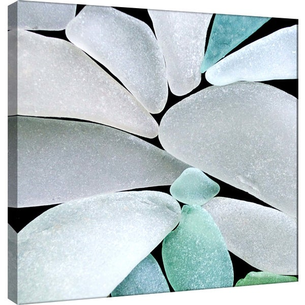 "PTM Images 9-101244 PTM Canvas Collection 12"" x 12"" - ""Sea Glass Space"" Giclee Minerals and Rocks Art Print on Canvas"