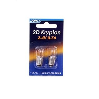 Dorcy 41-1660 Krypton Replacement Flashlight Bulb, 2.4 V, 0.7 A, Bayonet Base